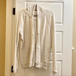 American Eagle Ivory Zip front hoodie M NEW